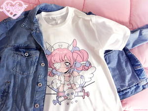 Heartpuff Nurse Bunny T-Shirt