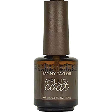 Tammy Taylor A+ Non Yellowing Top Coat Over Pink and White Nails .5oz