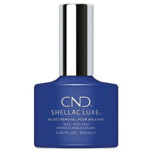 Bottle of Shellac Luxe Blue Eyeshadow Color Coat
