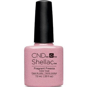 Bottle of Shellac Fragrant Freesia Color Coat