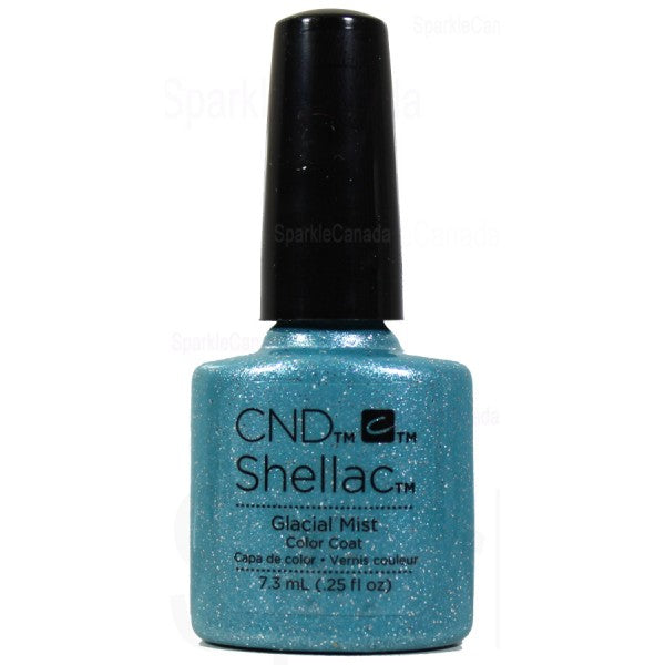 Bottle of Shellac Color Coat Glacial Mist