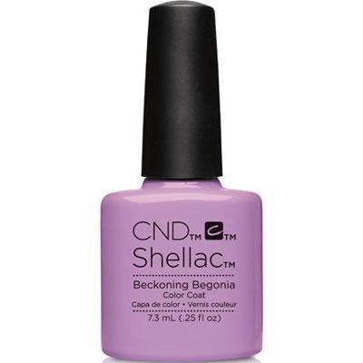 Bottle of Shellac Beckoning Begonia Color Coat