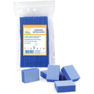 Flowery Single Use Mini Buffing Block 180 Grit 24pk