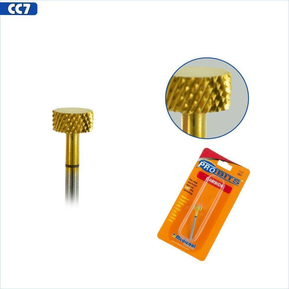 Medicool 3/32nd Gold Carbide Backfill Nail Bit (Course) CC7