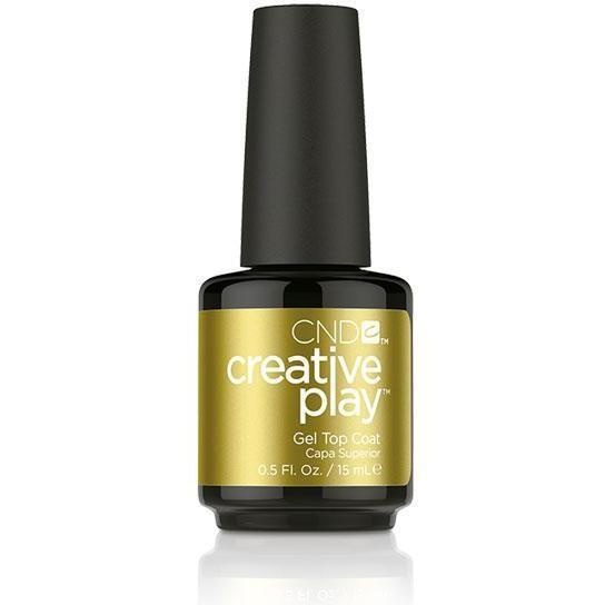 Bottle of CND Creative Play Gel Gel Top Coat .5oz