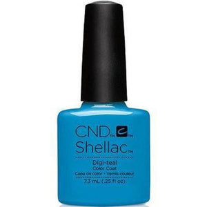 Bottle of Shellac Digi teal .25oz