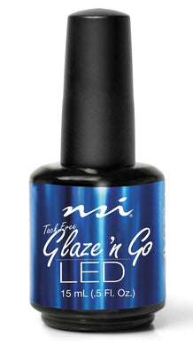 Bottle of .5oz NSI Glaze & Go LED Top Coat