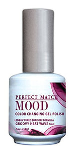 Bottle of Lechat Groovy Heat Wave Gel Mood Polish