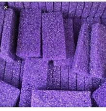 Load image into Gallery viewer, box of Mini Disposable Purple Pumice Sponges
