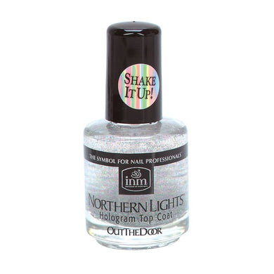 Bottle of .25oz Northern Lights Holographic Top Coat.