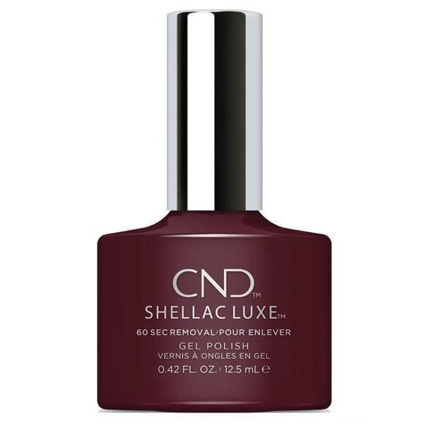 Bottle of Shellac Luxe  Black Cherry Color Coat