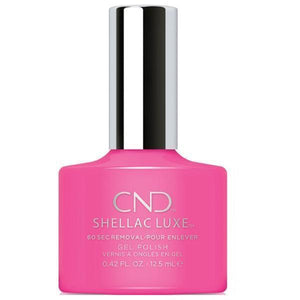 Bottle of Shellac Luxe Hot Pop Pink Color Coat