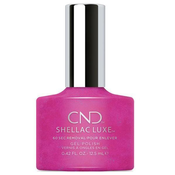 Bottle of Shellac Luxe Magenta Mischief Color Coat