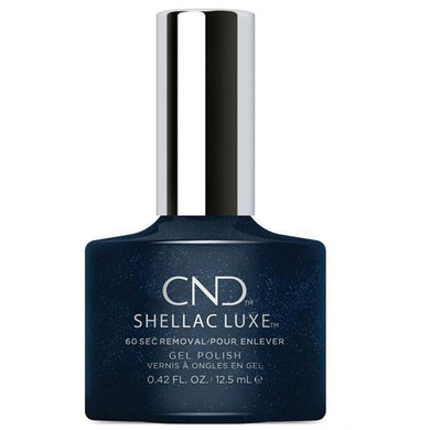 Bottle of Shellac Luxe Midnight Swim Color Coat