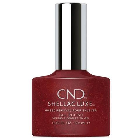 Bottle of Shellac Luxe Dark Lava Color Coat