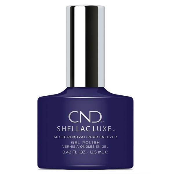 Bottle of Shellac Luxe Eternal Midnight Color Coat