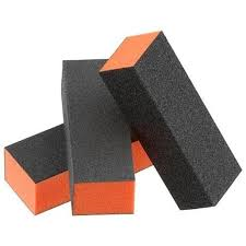 Soft Touch Disinfectable Orange Center Sanding Block, Course/Med (12/pk)
