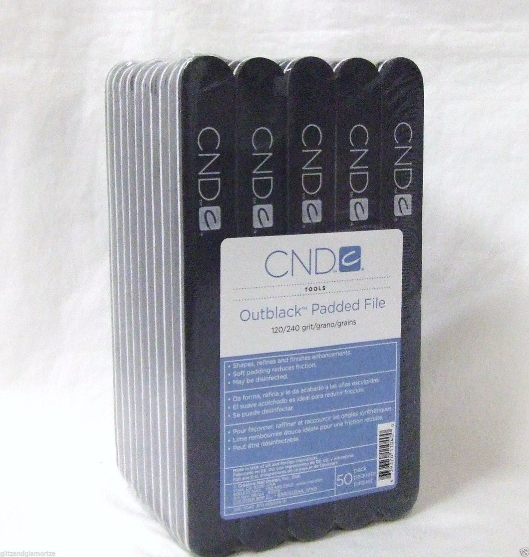 Pack of CND Outblack Padded Nail Files