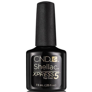 Bottle of .25oz Shellac Xpress Top Coat