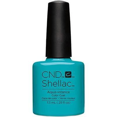 Bottle of Shellac Color Coat Aqua-intance