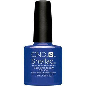 Bottle of Shellac Blue Eyeshadow Color Coat
