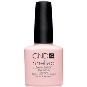Bottle of Shellac Color Coat Clearly Pink