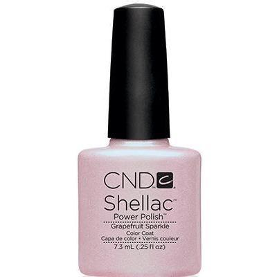 Bottle of Shellac Color Coat Grapefruit Sparkle