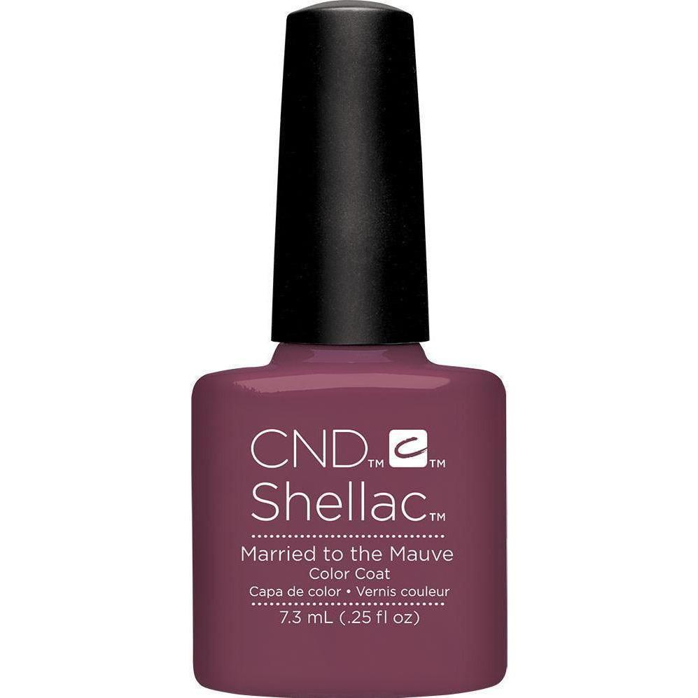 Bottle of Shellac Color Coat Married to the Mauve