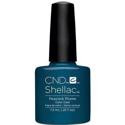 Bottle of Shellac Color Coat Peacock Plume