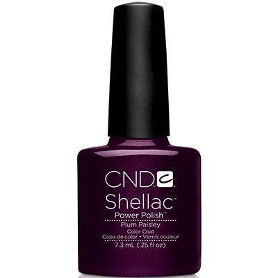 Bottle of Shellac Color Coat Plum Paisley
