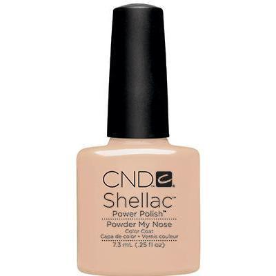 Bottle of Shellac Color Coat Powder My Nose