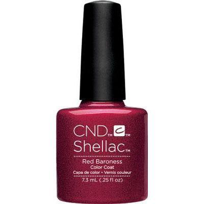 Bottle of Shellac Color Coat Red Baroness