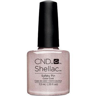 Bottle of Shellac Color Coat Safety Pin