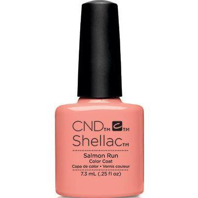 Bottle of Shellac Color Coat Salmon Run