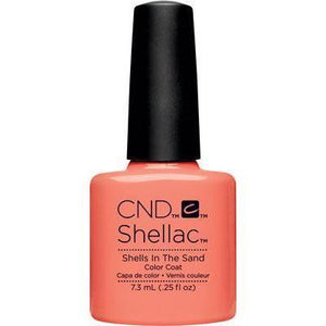Bottle of Shellac Color Coat Shells in the Sand