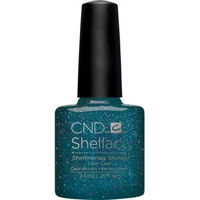 Bottle of Shellac Color Coat Shimmering Shores