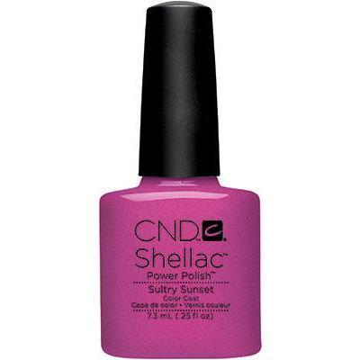 Bottle of Shellac Color Coat Sultry Sunset