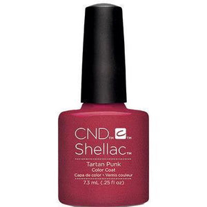 Bottle of Shellac Color Coat Tartan Punk