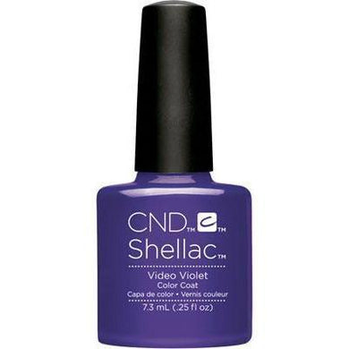 Bottle of Shellac Color Coat Video Violet