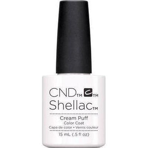 Bottle of Shellac Cream Puff Color Coat