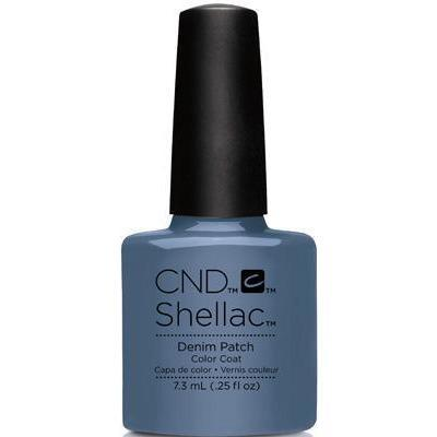 Bottle of Shellac Denim Patch Color Coat
