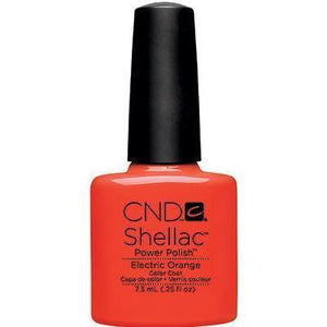 Bottle of Shellac Electric Orange Color Coat