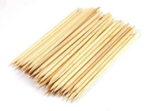 Starlight Wood Cuticle Pusher Sticks 100ct