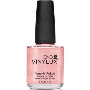 Bottle of Vinylux Grapefruit Sparkle Weekly Polish