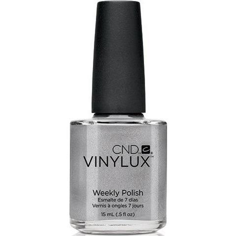 <p>Bottle of Vinylux Silver Chrome Weekly Polish</p>