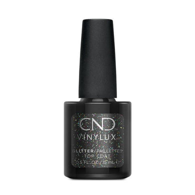Bottle of Vinylux Glitter Top Coat .5oz