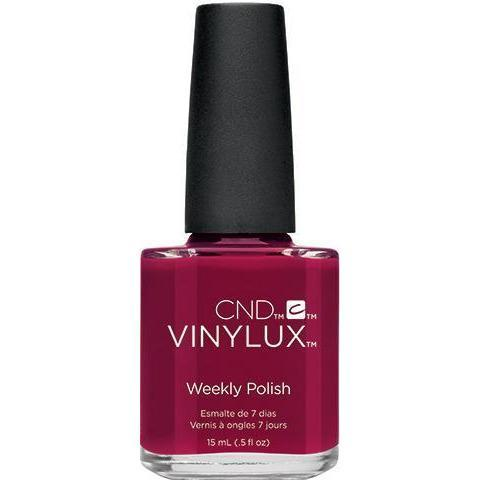 <p>Bottle of Vinylux Rouge Rite Weekly Polish</p>