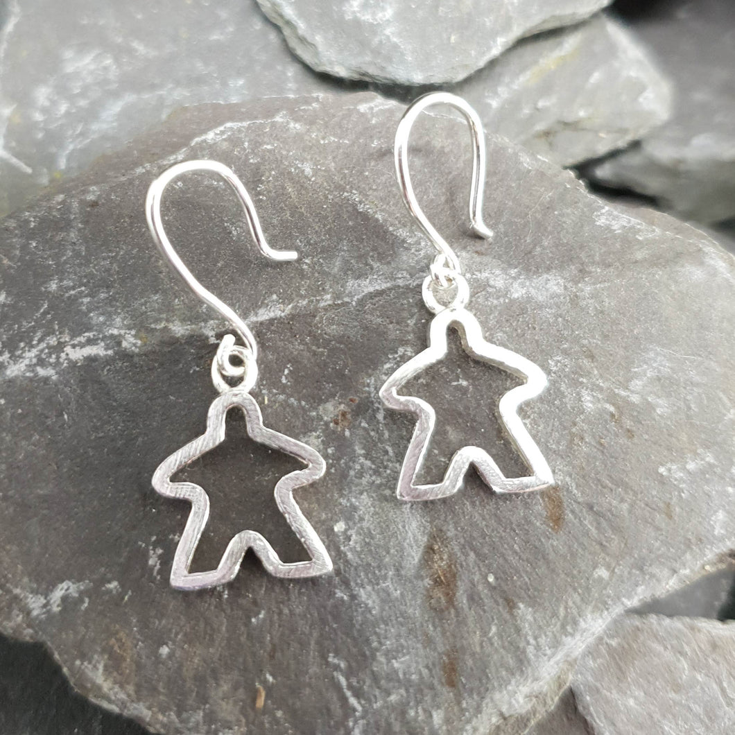 Small Meeple silhouette earrings