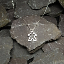 Load image into Gallery viewer, Meeple silhouette pendant