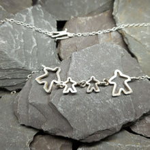 Load image into Gallery viewer, Meeple silhouette family necklace